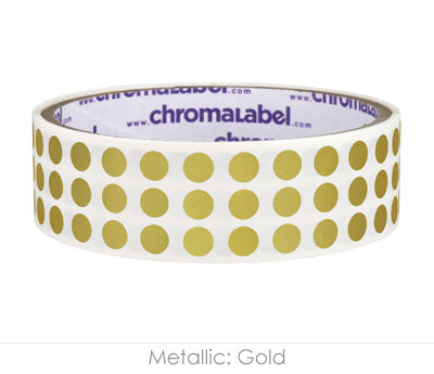 "0.25"" Gold Round Dot Stickers"