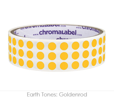 "0.25"" Goldenrod Round Dot Stickers"