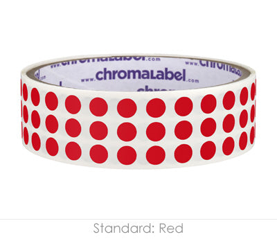 "0.25"" Red Round Dot Stickers"