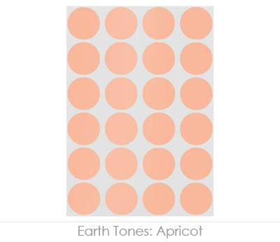 "0.75"" Apricot Round Labels on Sheets"