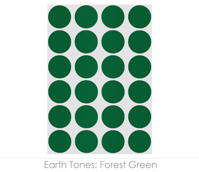 "0.75"" Forest Green Round Labels on Sheets"