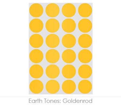 "0.75"" Goldenrod Round Labels on Sheets"