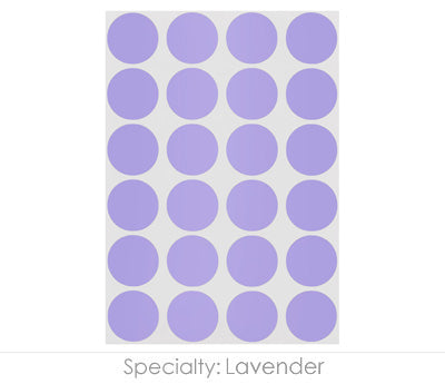 "0.75"" Lavender Round Labels on Sheets"