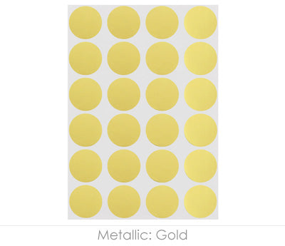 "0.75"" Gold Round Labels on Sheets"