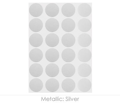 "0.75"" Silver Round Labels on Sheets"