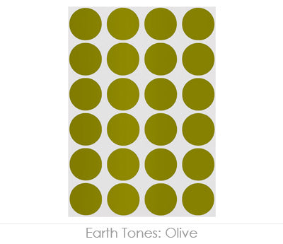 "0.75"" Olive Round Labels on Sheets"
