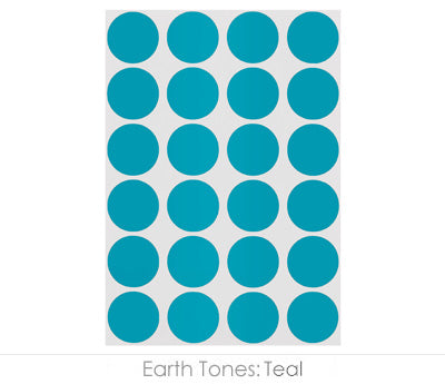 "0.75"" Teal Round Labels on Sheets"