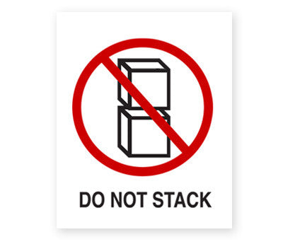 """Do Not Stack"" Labels - 3"" x 4"""