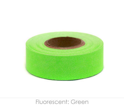 "0.75"" Removable Fluorescent Green Labeling Tape"