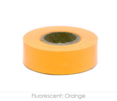 "0.75"" Removable Fluorescent Orange Labeling Tape"