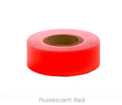 "0.75"" Removable Fluorescent Red Labeling Tape"