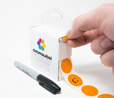 "Writable 1"" Round Labels"