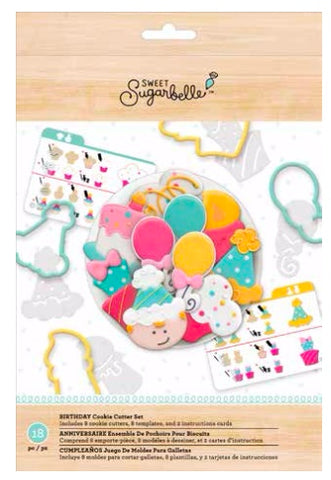 SWEET SUGARBELLE BIRTHDAY COOKIE CUTTER SET