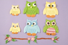 Owl Set - Patchwork Cutters