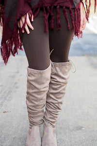 Amazing Fleece Lined Leggings (Brown)