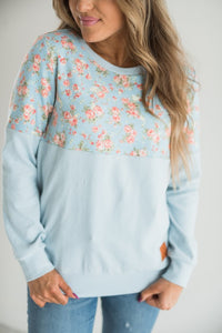 Ampersand Ave‰™  Pullover - Blue Floral