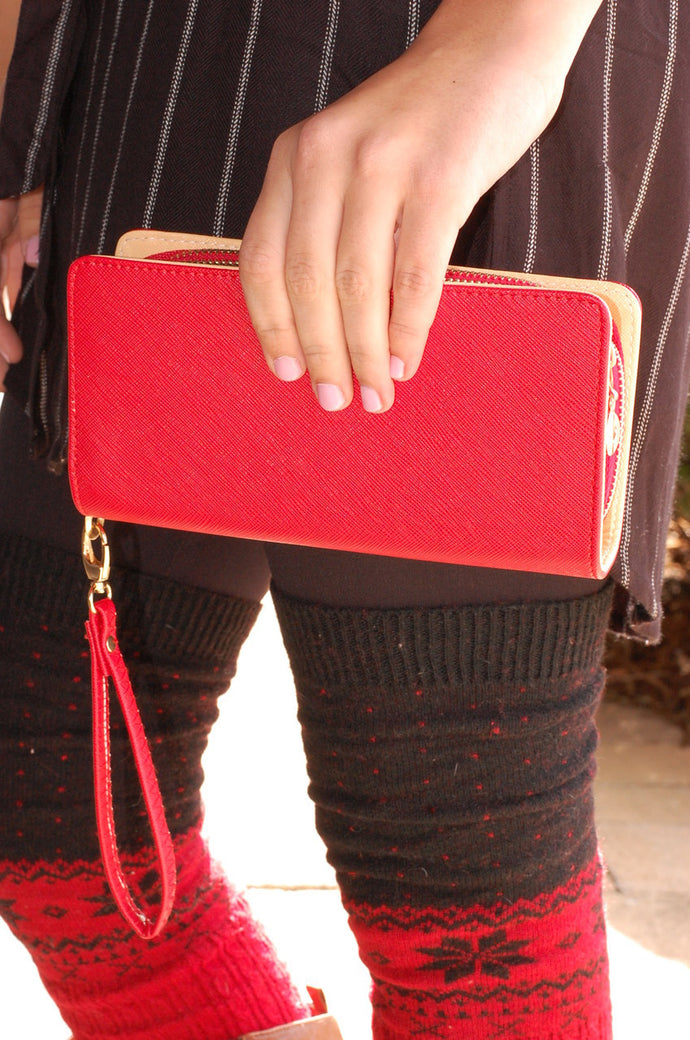 On the Go Wallet (Red)
