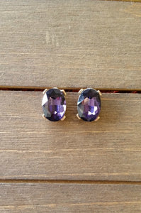 Gorgeous Gems Earrings  (Purple)