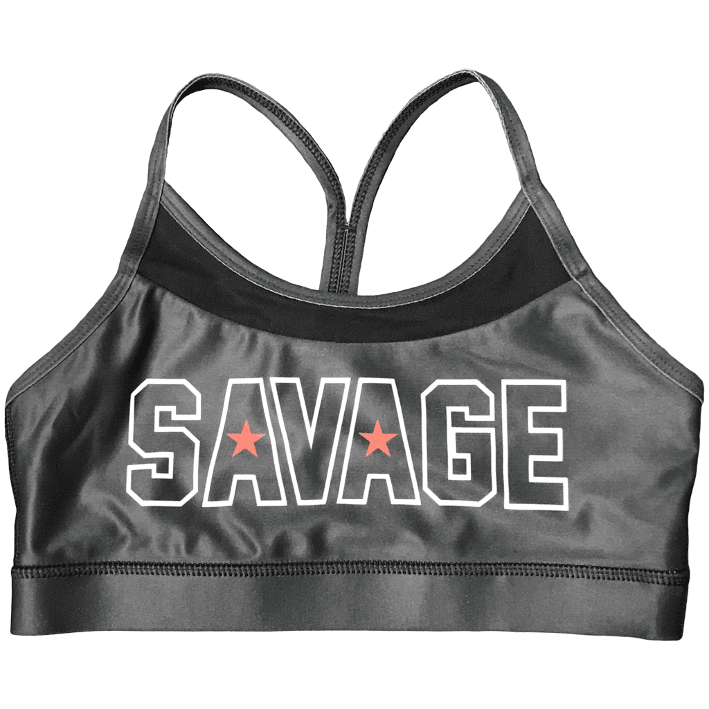 Savage Sports Bra Black