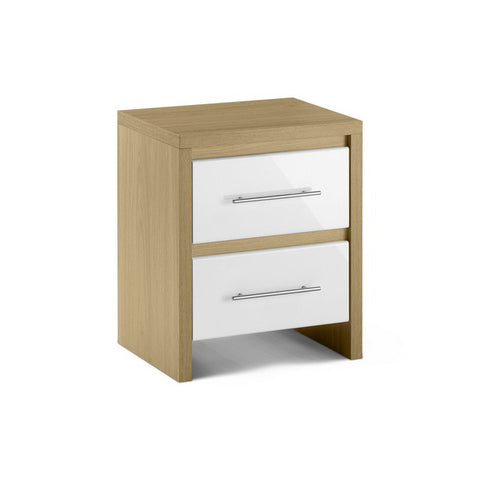 Picture of Stockholm - 2 Drawer Bedside Cabinet - White