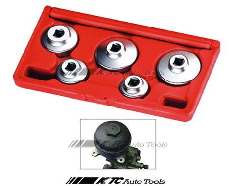 5PCS Oil Filter Cap Wrench Set for Mercedes Benz, BMW, FORD