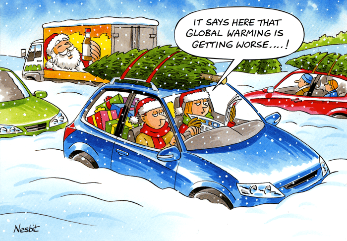 Funny Christmas Cards - Global Warming Is Getting Worse
