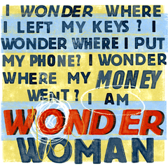 Funny Cards - Wonder Woman