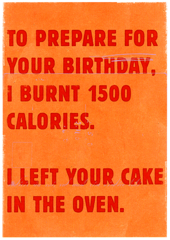 Prepare for birthday - burnt calories