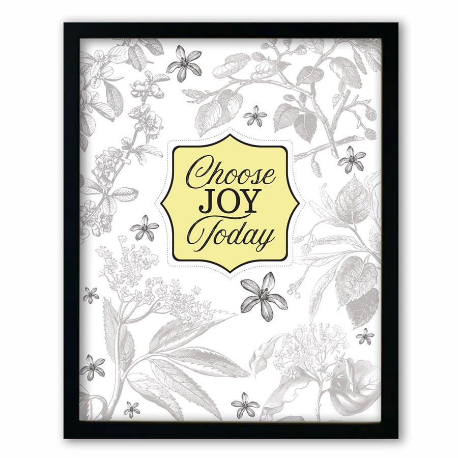 Choose Joy Botanical Style Print
