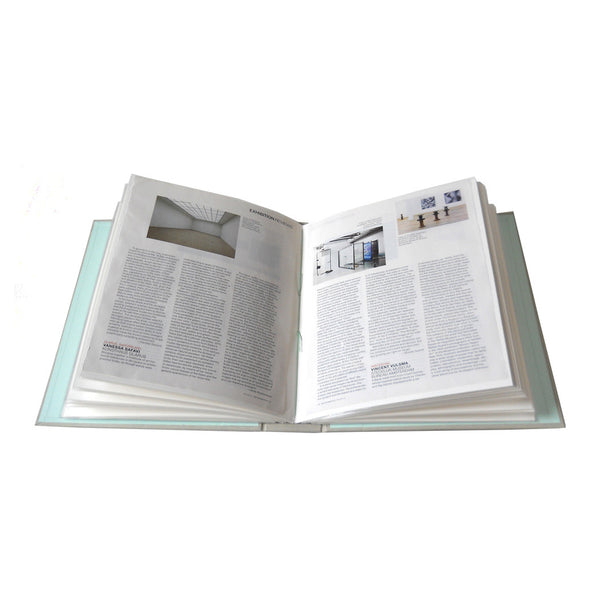 magazine tear outs in slip in style photo album