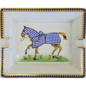Hermes Tattersall Equestrian Ashtray