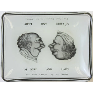 Two Faced Characters by Rex Whistler, M' Lord and Lady Ashtray