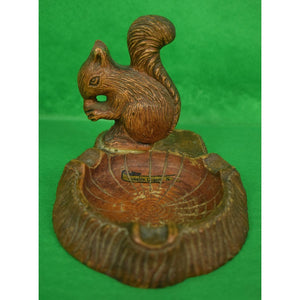 Carved Wooden Squirrel Bavarian Ashtray
