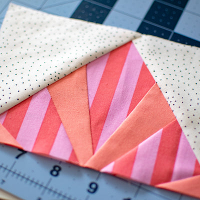 TUTORIAL - Foundation Paper Piecing {aligning directional stripes}