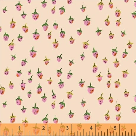 Trixie - Field Strawberries in Blush - Heather Ross for Windham - 50899-2 - Half Yard
