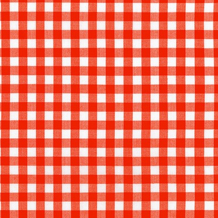 Kitchen Window Wovens - Plaid in Flame - Elizabeth Hartman for Robert Kaufman - AZH-17722-101 - Half Yard