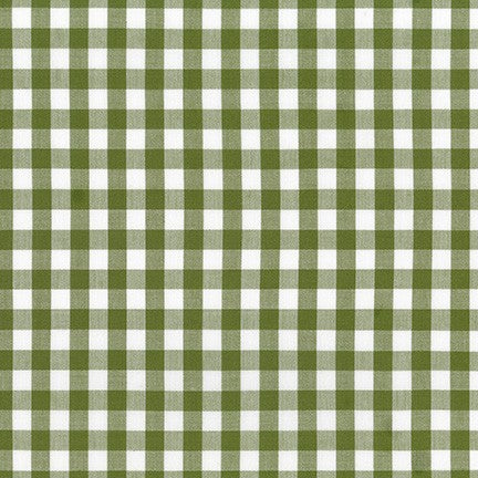 Kitchen Window Wovens - Plaid in Avocado - Elizabeth Hartman for Robert Kaufman - AZH-17722-218 - Half Yard
