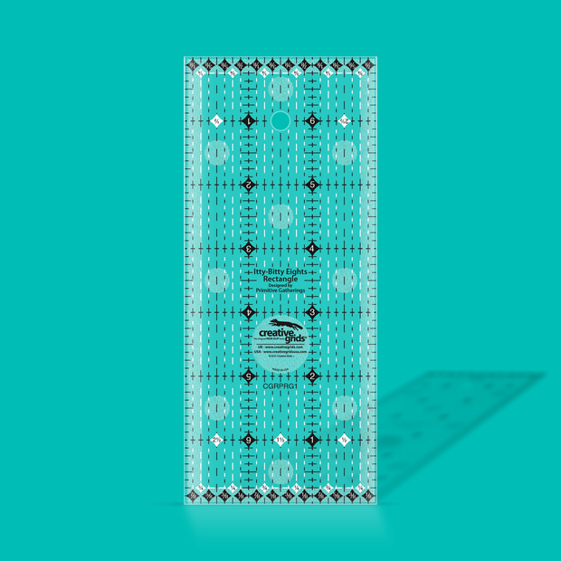 "Creative Grids - 3"" x 7"" - Clear Grip Ruler - CGRPRG1"