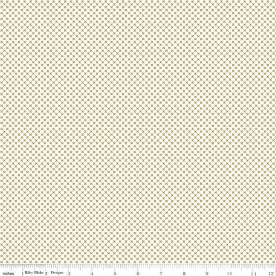 Riley Blake Basics - Kisses in Gold - Riley Blake Designs - SC220 GOLD - Half Yard