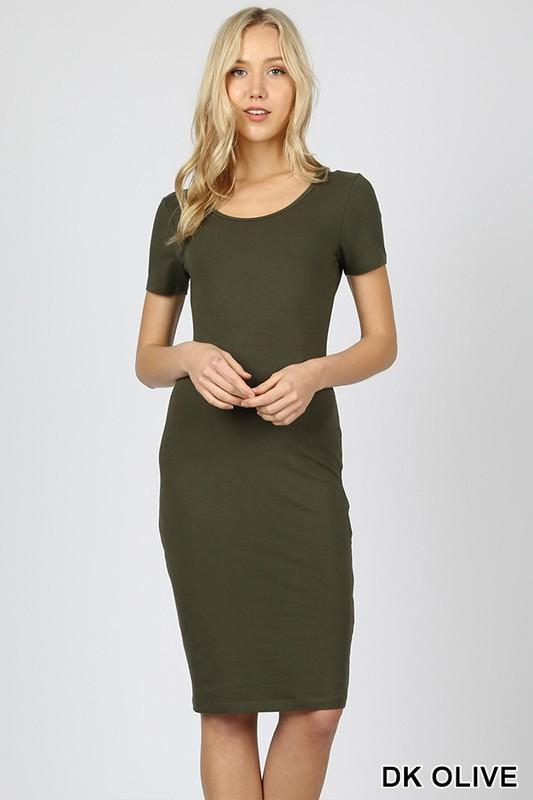 Lily Short Sleeve Dress - SexyModest Boutique