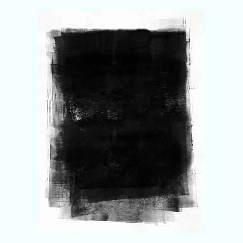 Black Grunge Ink Art Print