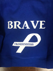 """Brave"" zip up sweatshirt"