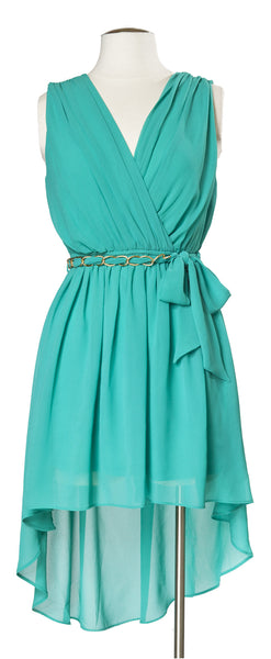 Bistro With the Flow High Low Dress in Jade