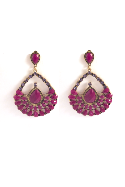 Antiquity Inspired Tear Drop Earrings