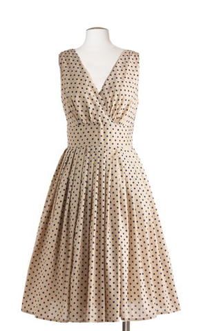 C'est Si Bon Dress in Blueberry Dots