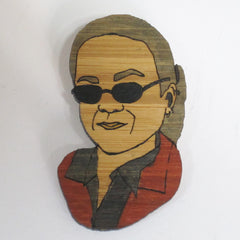 Ian Ray High Fidelity Tim Robbins brooch handmade