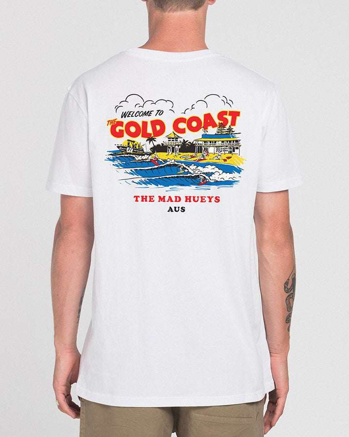 THE GOLD COAST SHORT SLEEVE TEE - WHITE