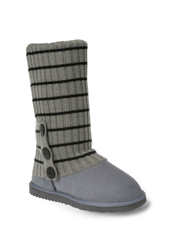 UGG CARDY SOCKS - GREY/BLACK(THIN STRIPE)
