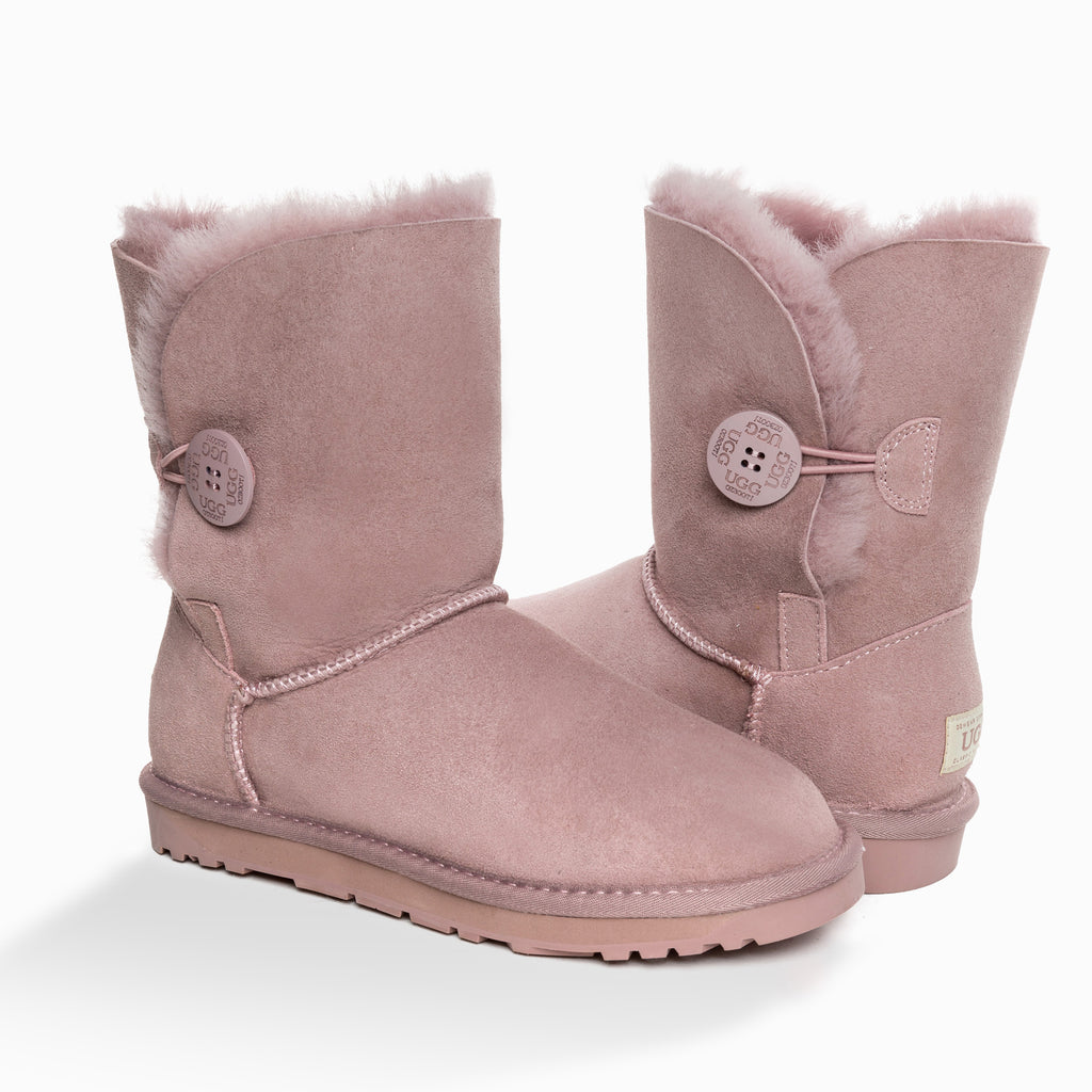 'NEW GENERATION' UGG LADIES CLASSIC 3/4 SHORT BUTTON BOOT(SPECIAL EDITION COLOURS)