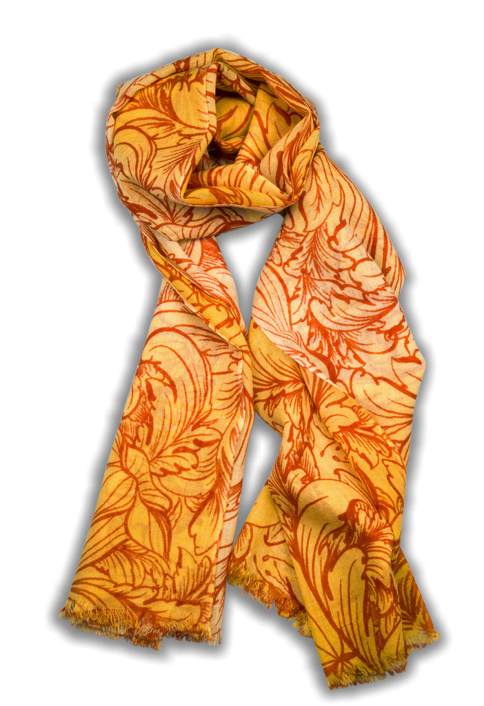 100% MERINO WOOL SCARF - YELLOW ORANGE